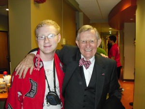This is me with President Gee back in my freshman year. He was an inspiration. I hope he stays that way.