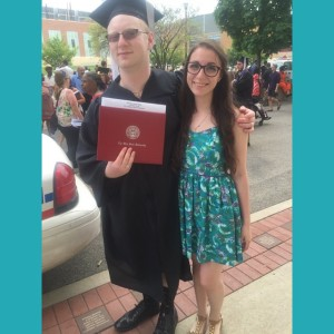 My sister Adi and I after I've gotten my diploma.