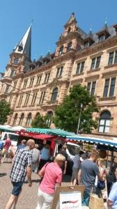 The Marktplatz farmer's market.