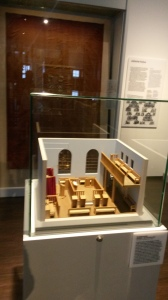 A model of the synagogue that used to be in the village, located in the small Jewish display in the castle.