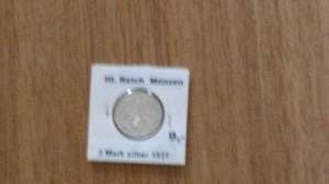 German silver mark from 1937. Cool, right?
