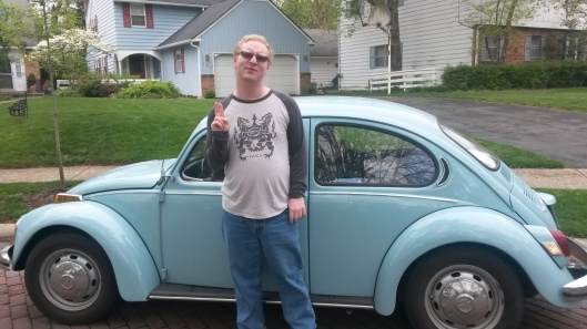 Me with Pat's car.
