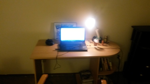 The writing space in my new apartment. Pretty sweet, huh?